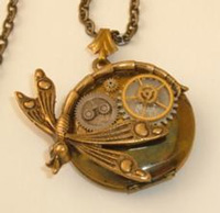 Steampunk Locket by Connie Eisele